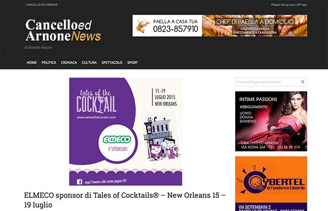 Elmeco Sponsor di Tales Of Cocktails