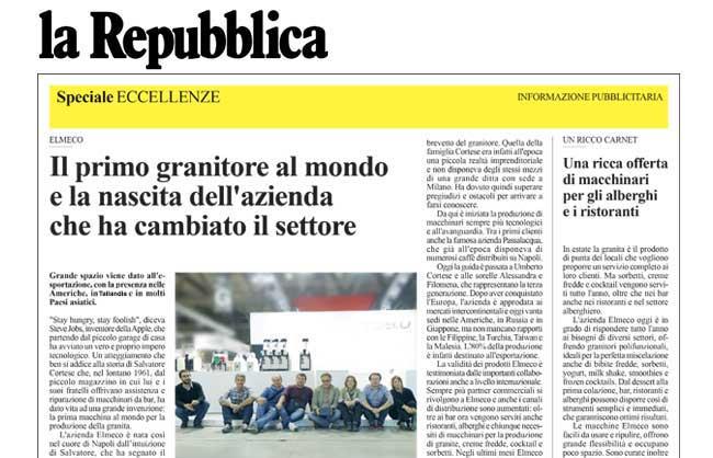 "Elmeco Frozen per ""La Repubblica"""