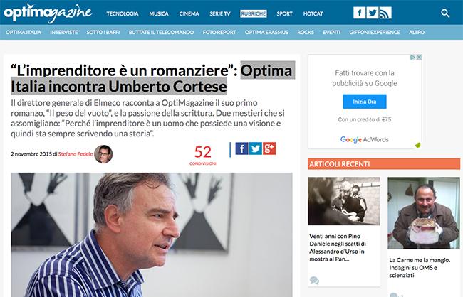 Optima Italia incontra Umberto Cortese