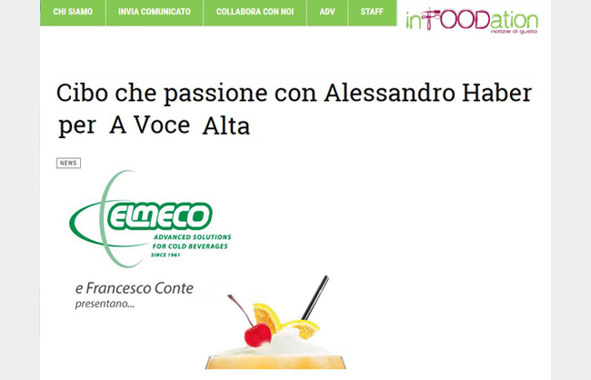 """Cibo che passione con Alessandro Haber per """"A voce alta"""""""