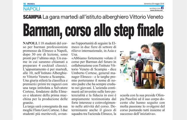 Corso di Barman - Step finale a Scampia