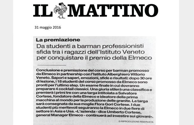 Premio Elmeco per studenti Barman professionisti