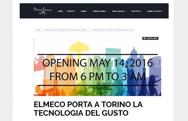 Elmeco porta a Torino la tecnologia del gusto