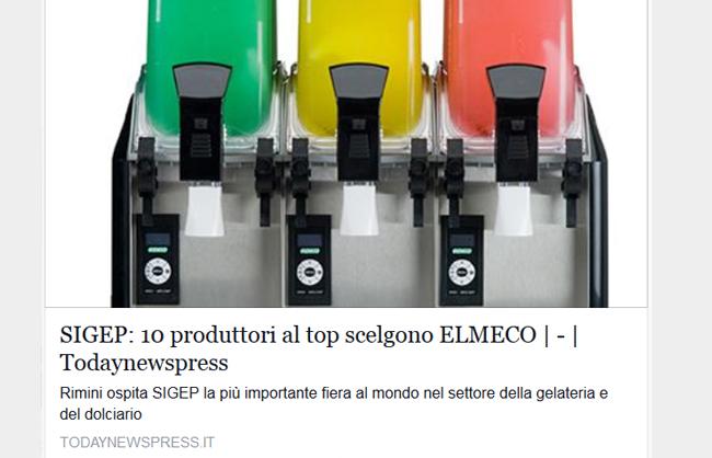 SIGEP - 10 produttori al top scelgono Elmeco
